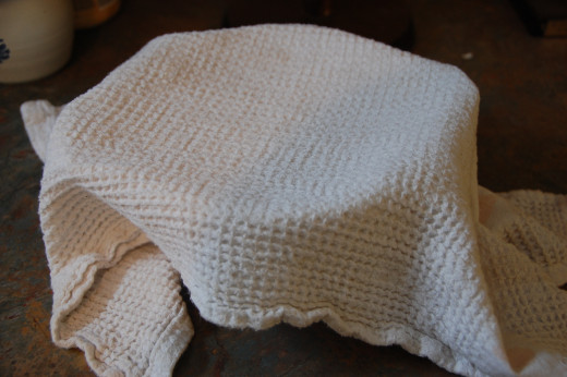 cover with cheesecloth or light towel between stirring for 5 - 10 days