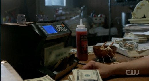 I always keep my hot sauce next to my money counter.