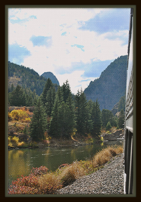 The view from the California Zephyr in Gore Canyon Colorado as it traveled East.