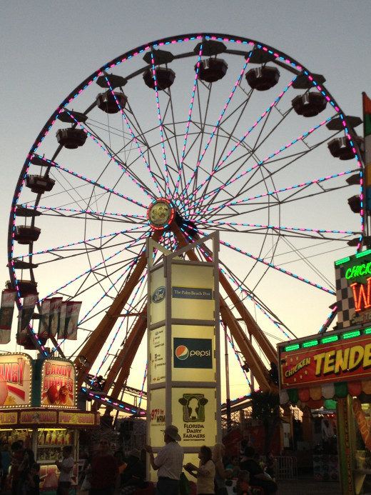 The traditional ferris wheel is still a major attraction and the waiting line is one of the longest each day.