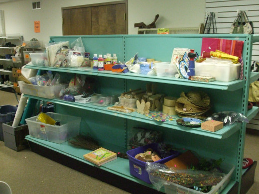 Dishes, cookware, and fabric are in the houseware section.