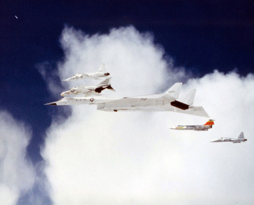 XB-70 flying in formation