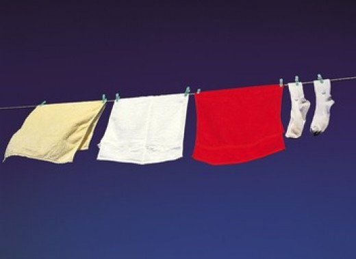 Line drying your clothes can also help the environment.
