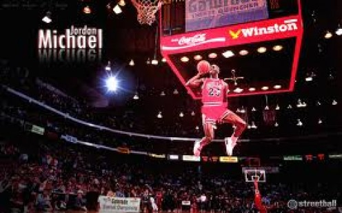 Air Jordan got his nickname because of dunks like this one. He has has advertisements from Nike, Wheaties, Gatorade and more.