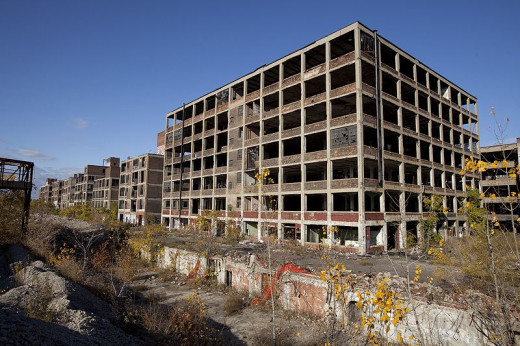 Abandoned structures are plentiful throughout Detroit, but there is a quiet rebuilding spreading from Downtown outward.