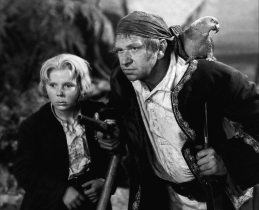 Jackie Cooper and Wallace Beery in Treasure Island (1934)