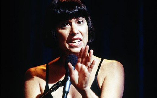 Eve Ensler performing The Vagina Monologues (image source: hbo.com)