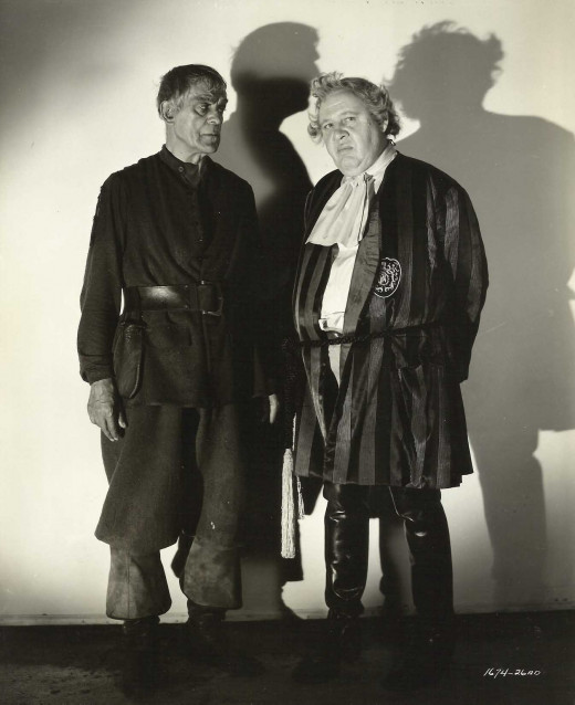 Boris Karloff with Charles Laughton in The Strange Door (1951) publicity still
