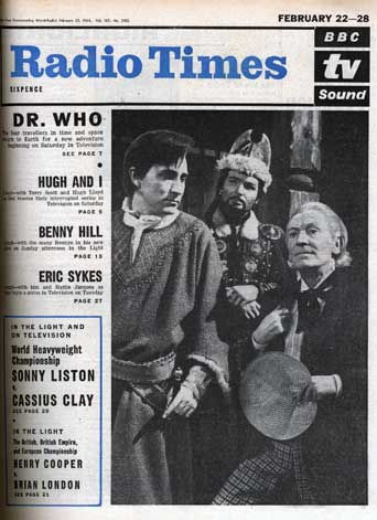 (c) Radio Times.  February 1964. The first Doctor (William Hartnell) and the first Radio Times cover.