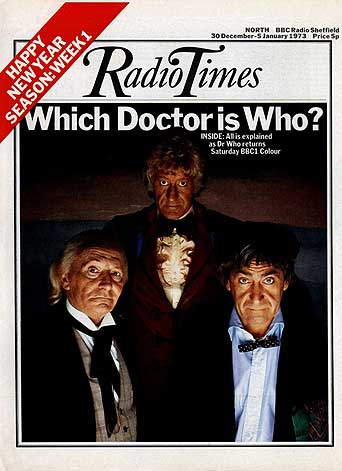 (c) Radio Times.  December 1972. Not only was this cover for the tenth anniversary Doctor Who story, but by coincidence, it was also the tenth Radio Times Doctor Who cover.