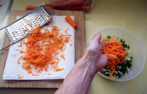 add carrots to slaw mix