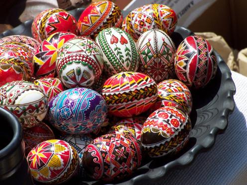 Ukrainian easter eggs aka Pysanka.