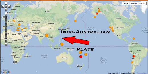 As the Indo-Australian planet adjusts it allows other tectonic plates to move, creating a domino effect.
