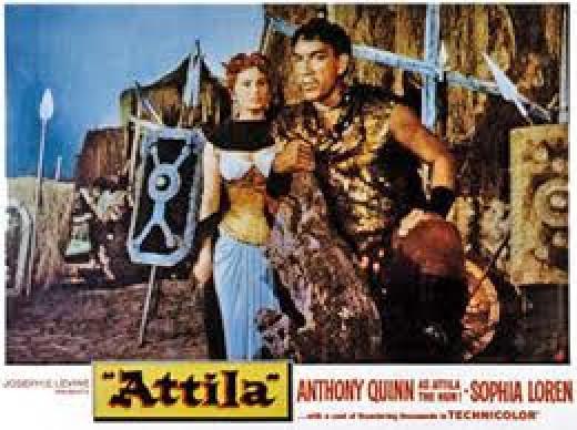 Anthony Quinn as Attila