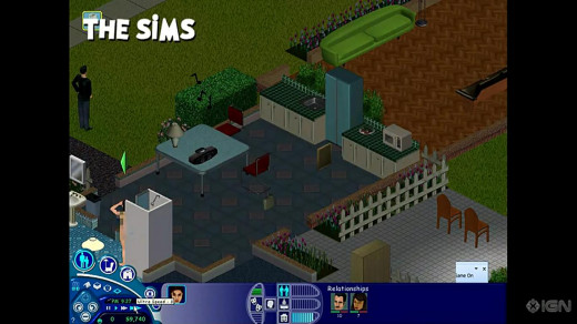Gameplay from the original Sims game