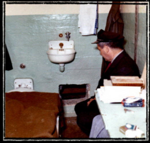 The inside of Cell 138: the temporary quarters of Frank Morris