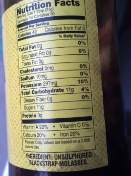 A  label for blackstrap molasses