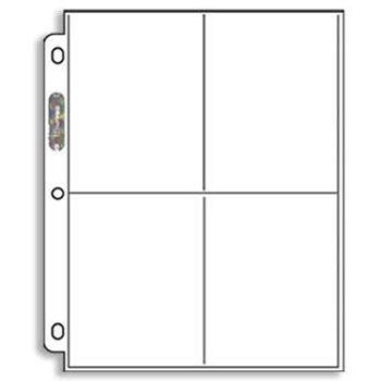 This is the type of pages I use with the 3-ring binders.  They are clear and made from archival quality material.  You can put a total of 8 cards on each page, having 4 of them back to back.