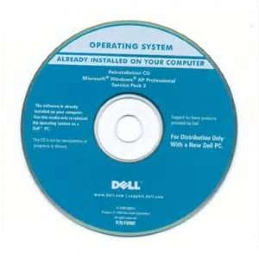 Here is an example of a operating system disc for a Dell computer. The disc containing your operating system may look similar.