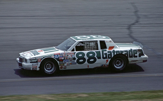 Rusty Wallace driving in his Rookie-of-the-Year Season of 1984.