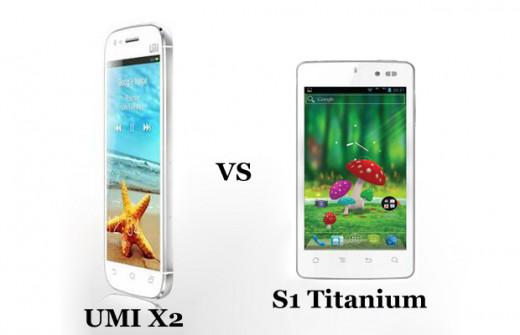 UMI X2 vs Karbonn S1 Titanium