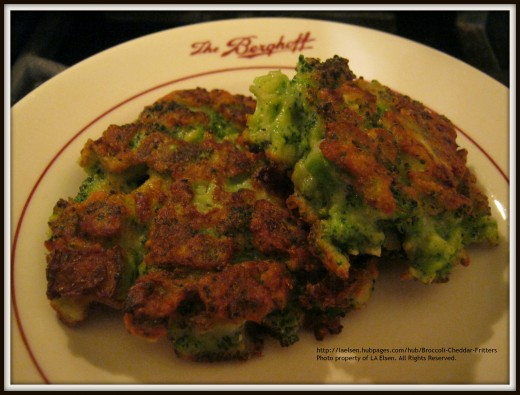 Broccoli Cheddar Fritters Who's won't eat their veggies now... Hmmm?