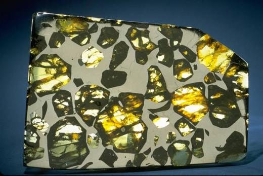 beautiful pallasite meteorite