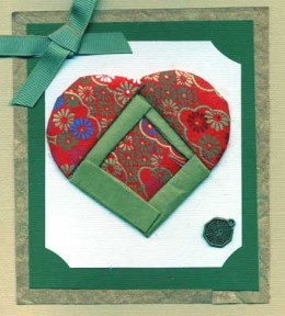 Quilted Heart Card made with Washi Paper Folding