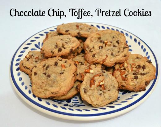 Chocolate chip, toffee, pretzel cookie recipe