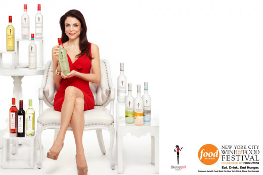 A promotional image for Skinnygirl cocktails.