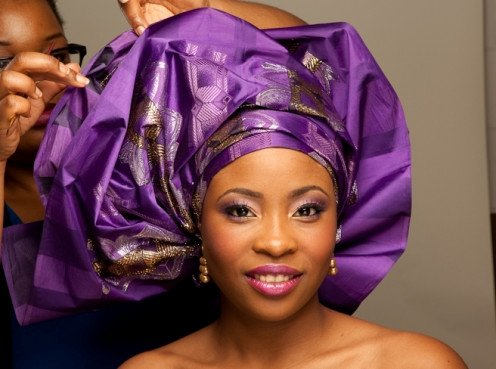 Purple gele