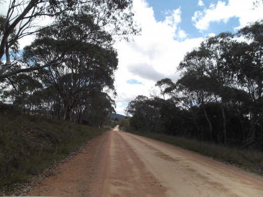 Country roads in Australia are often unsealed. I travel along this particular road regularly.