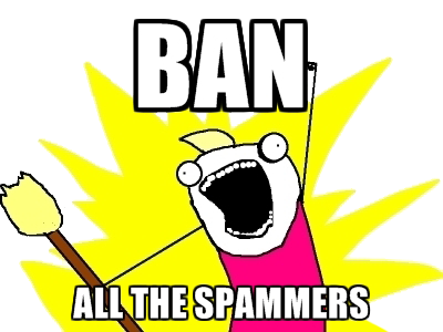 This is how Facebook communities often respond to spammers!
