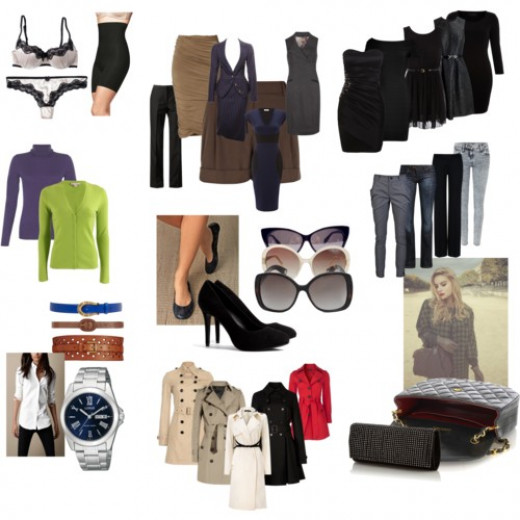 Compilation of basic pieces you can obtain to start your wardrobe.