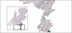 Map location of Vaals, Limburg, The Netherlands