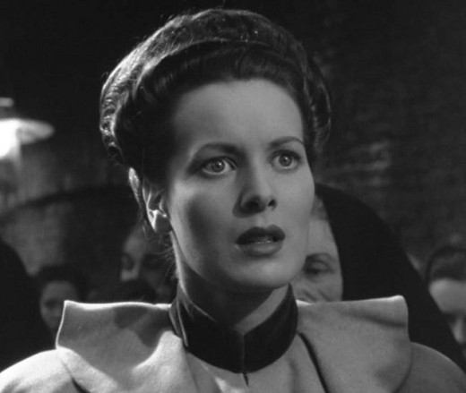 "Maureen O'Hara as Angharad in ""How Green Was My Valley""."