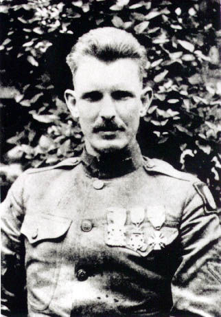 The real Alvin York that Gary Cooper portrayed in the movie Sergeant York.