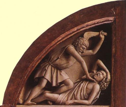 Ghent Altarpiece - Cain & Abel - Jan van Eyck 1432