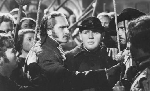 Fredric March and Charles Laughton in Les Miserables (1935)