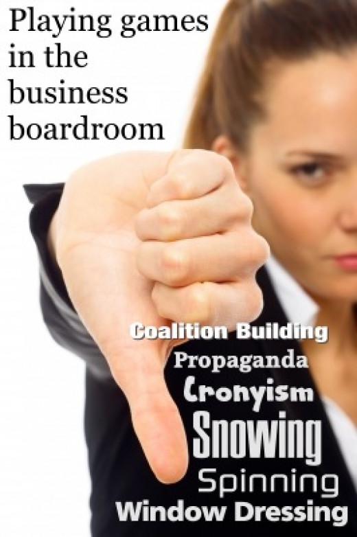 Board room games - more like recreational politics