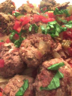 Spaghetti & Meatballs with Mirepoix (Meer-Pwah) Sauce