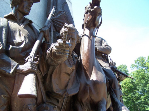 The Base of the Robert E. Lee Statue on Seminary Ridge