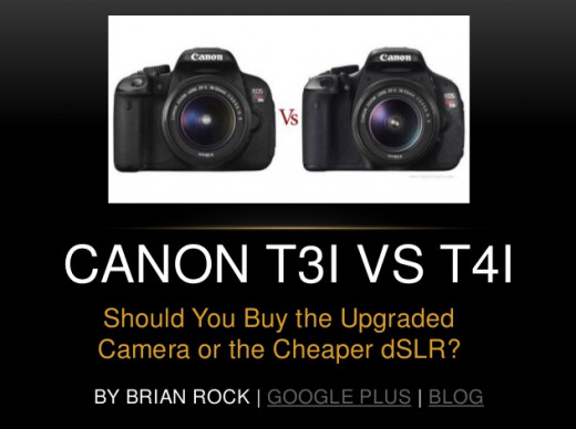 View this Slideshare for a visual depiction of the differences between the Canon t3i and t4i.