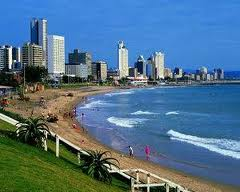 The beautiful coastline of Durban