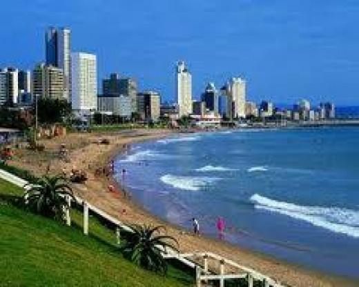 The beautiful coastline of Durban