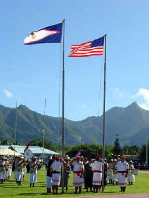 Flag Ceremony in American Samoa