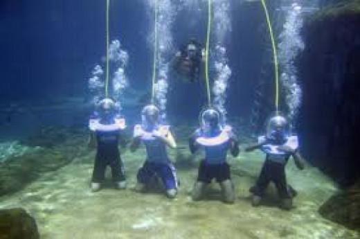 Underwater Scuba Walk