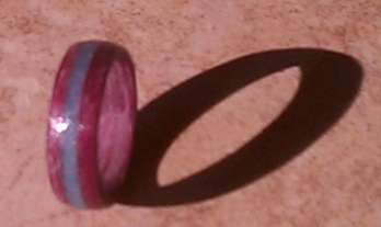 Purpleheart with Opal Inlay