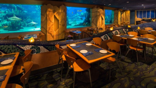 Inside the Coral Reef Restaurant in EPCOT