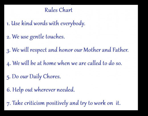 These Are Some Of The Common Rules That Family Members